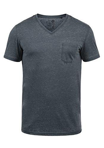 !Solid Theon Herren T-Shirt Kurzarm Shirt Mit V-Ausschnitt, Größe:XL, Farbe:Insignia Blue (1991)