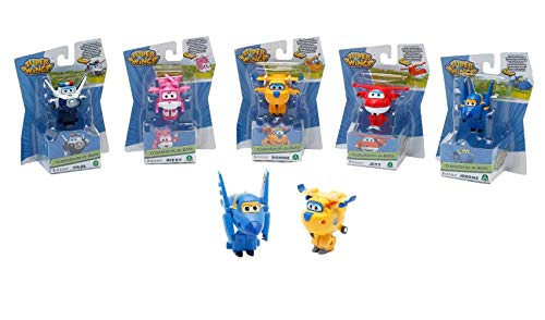 Super Wings 70710001 - Mini Transform-vliegtuigen 5-voudig gesorteerd