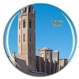 Weekino España Gardeny Castle Lleida Imán de Nevera 3D de Cristal de la Ciudad de Viaje Recuerdo Colección de Regalo Fuerte Etiqueta Engomada refrigerador