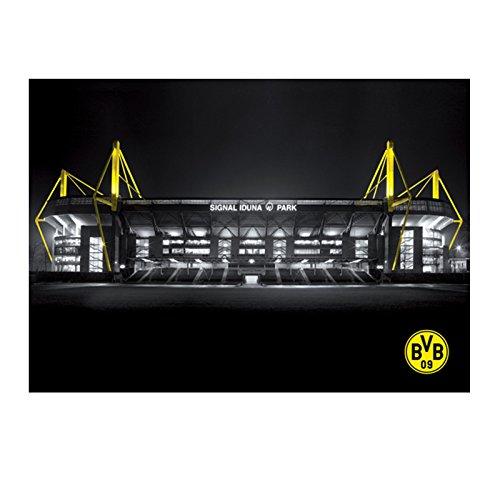 Borussia Dortmund BVB Poster Stadion, Papier, Mehrfarbig, 60 x 42 x 1 cm