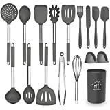 Silicone Cooking Utensil Set, AILUKI Kitchen Utensils 17 Pcs Cooking Utensils Set,Non-stick Heat...