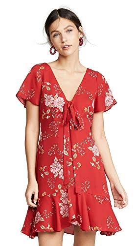 BB DAKOTA Junior's Love Back atcha Printed CDC Dress, Scooter red, 6