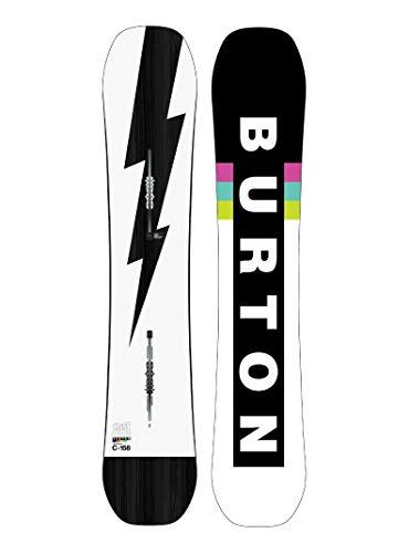 Burton M Custom Schwarz-Weiß, Herren Snowboard, Größe 156 cm - Farbe Black - White - Flash
