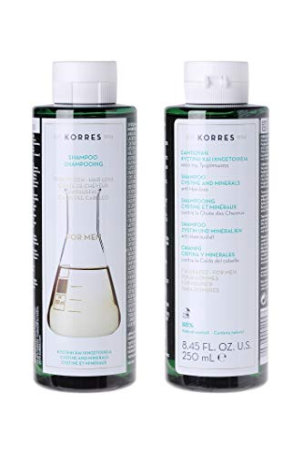 Korres Tonic Anti Hair-Loss Shampoo For Men with Cystine & Minerals,1er Pack (1 x 250 ml)