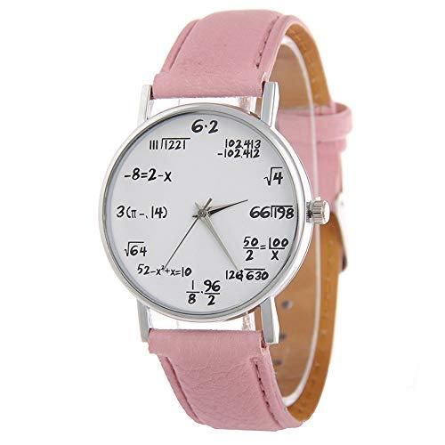 SSITG Uhr Damenuhr Armbanduhr Quarzuhr Mathematik Formel Fashion Mode 24cm
