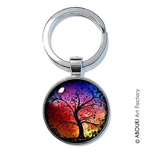 Lebensbaum Bunt - ABOUKI   handgefertigter Schlüsselanhänger