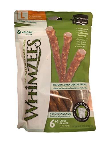Whimzees Veggie Sausage | 50x vegetarischer Hundesnack Größe L
