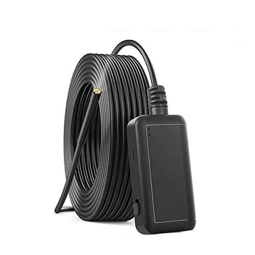 NOBGP Endoscopio Wireless, 5.0 MP 1080P HD Telecamera per ispezione boroscopio WiFi, Lente Impermeabile IP67 con Serpente ispezione 5.5mm per ispezione conduttura Automobile, 32.8FT