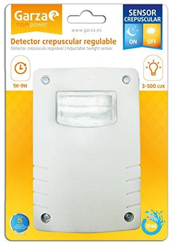 Garza - Detector Crepuscular Regulable para exterior