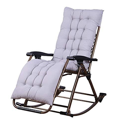 ZWWZ SunLoungers al Aire Libre Jardín Silla Mecedora para Adultos Relájese Confort |Sillón de Tumbona Plegable Sillón reclinable con Cojines para HAIKE