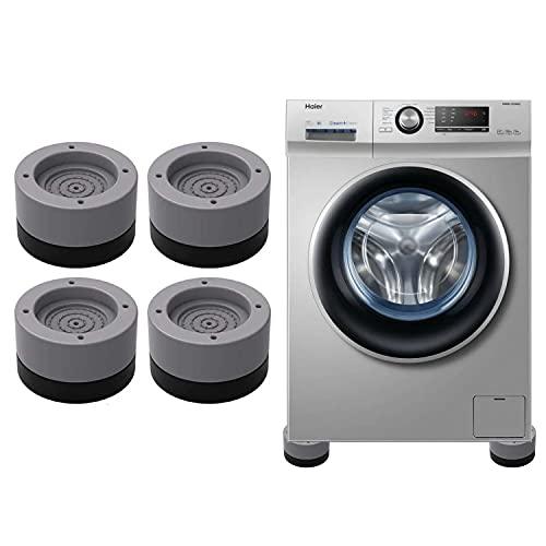 HENGBIRD 4 almohadillas para los pies de la lavadora, amortiguadores de vibración, para lavadora y secadora