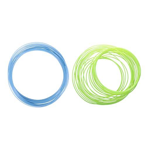 Yaootely 2Pcs 3D Printer Pen Filament 1.75mm PLA 10M(Glow in DarK Yellow PLA&Glow in DarK Blue PLA)