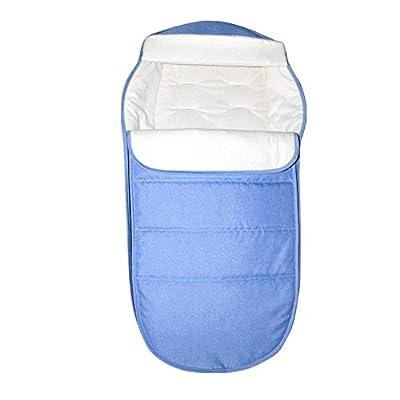 Cochecito de bebé Saco universal para pies Cubierta cómoda y cálida para invierno Bolsa de dormir con calor a prueba de viento Bolsa de asiento para bebé Cojín de algodón para bebé