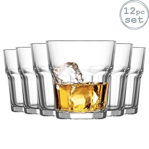 La-V Verres Tumbler à Whisky Aras - pour Whisky on The Rocks - 305 ML - Lot de 12