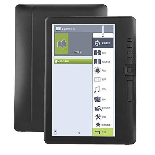 KSTE BK7019 portátil de 7 Pulgadas Lector de Libros electrónicos Colorido de la Pantalla Soporta TF Tarjeta de Memoria 4G