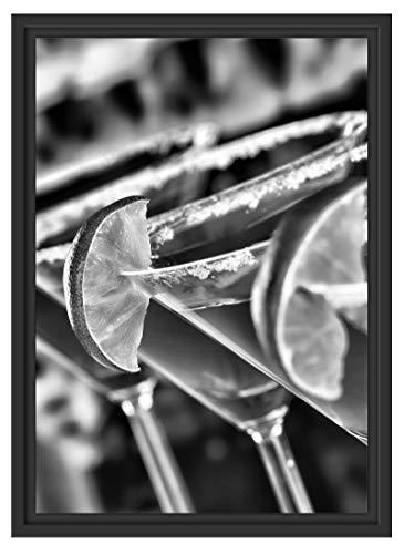 Picati Swimming Pool Cocktails im Schattenfugen Bilderrahmen | Format: 55x40 | Kunstdruck auf hochwertigem Galeriekarton | hochwertige Leinwandbild Alternative