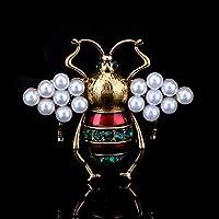 BAJIEブローチファッショナブルなラインストーンビートルブローチ女性へのギフトエナメル昆虫蜂スパイダーブローチピン小さな虫ジュエリースカーフクリップブローチ