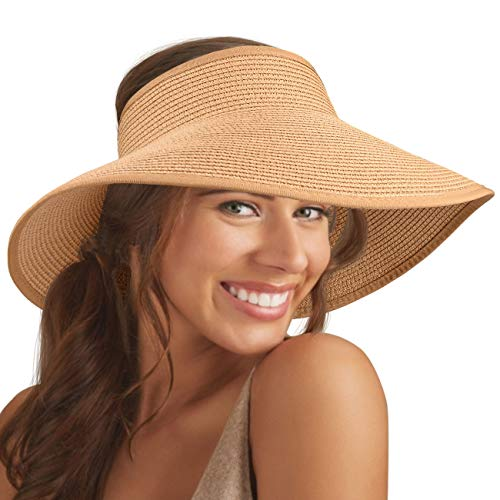 Maylisacc Open Top Hat Ajustable Open Top Ponytail Visor Cap Transpira