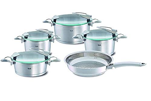Fissler solea Set 5tlg KT16/20/24+BT20+PF24 Batería de cocina, acero inoxidable