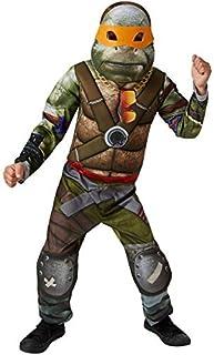 Rubie's-déguisement officiel - Tortue Ninja TMNT- Déguisement Luxe rembourré TMNT Hybrid avec masque feutrine + 4 loups - ...