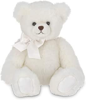Bearington Aspen White Plush Stuffed Animal Teddy Bear, 17 inches