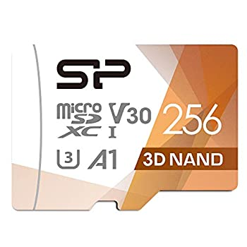 Silicon Power 256GB Micro SD Card U3 SDXC microsdxc High Speed MicroSD Memory Card with Adapter for Nintendo-Switch Wyze Cam and Drone
