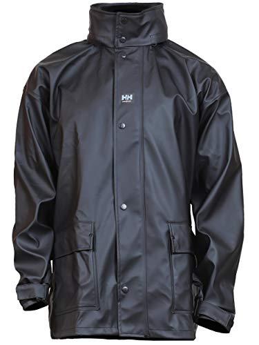 Helly-Hansen Workwear Men's Impertech Deluxe Rain Jacket, Black - Large