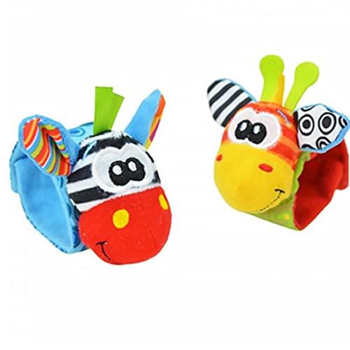 NiceJoy Baby Traush, Pulsera Infantil Pulsera para niños Pulsera Pulsera Suave Peluche de Ratones educativos Jugar Juguete Regalos Aleatorio Color 2 Piezas