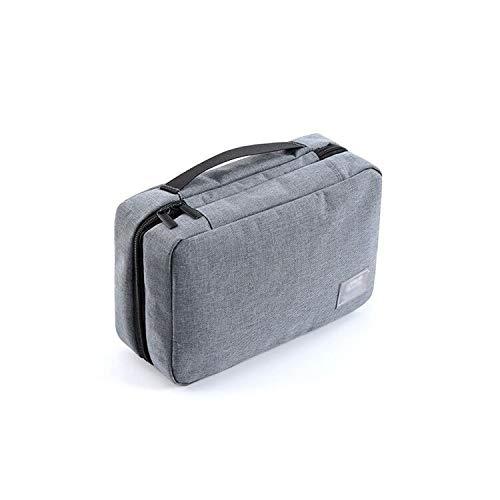 Camping en Plein air Voyage Business Wash Bag Sac de Rangement Sac à cosmétiques Sac Portable imperméable Portable Peut être accroché (Color : Black, Taille : 25 * 19cm)
