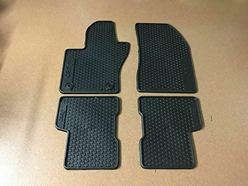 Jeep Renegade 4xe ibrida benzina diesel set 4 tappetini in gomma originali con logo Jeep stampato in tutti i tappeti 50928645