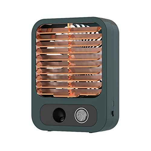 Corlidea Ventilador USB de refrigeración por agua, pequeño, para PC, 3 velocidades, silencioso, fácil de llevar, para oficina, hogar y al aire libre