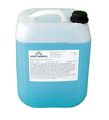 Solarflüssigkeit 10 l blau Konzentrat bis -58° C Frostschutz, Solarfluid, Solarliquid, Wärmeträgermedium