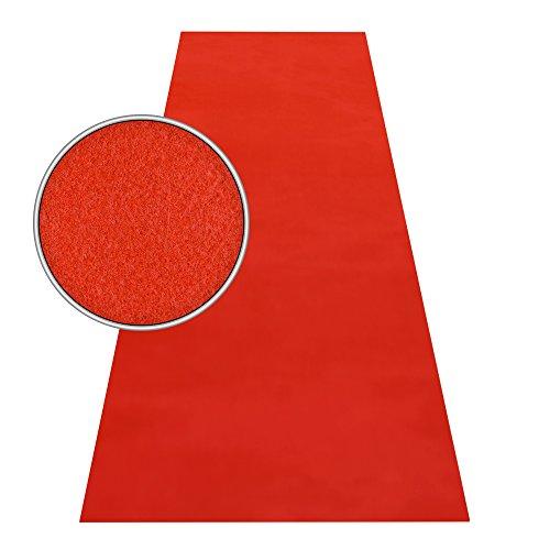 HOMEFACTO:RI Roter Teppich VIP Läufer Event Teppich Premierenteppich Wunschmaß rot 1m, Länge:600 cm