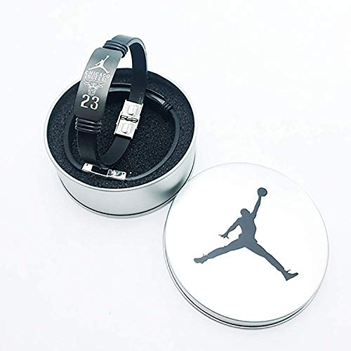 QTDH Basketball Star Armband - Kobe Curry James Harden - Silikon Sport Armband Armband - Wählen Sie Eines Für Ihre Lieblingsteams (Farbe : Jordan)