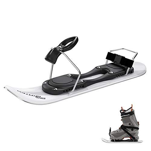 Skiskates Shortest skis Ever Ice Skates for Snow (White | for Ski Boots)