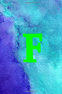 F: 6x9 lined journal : abstract watercolor painting cover