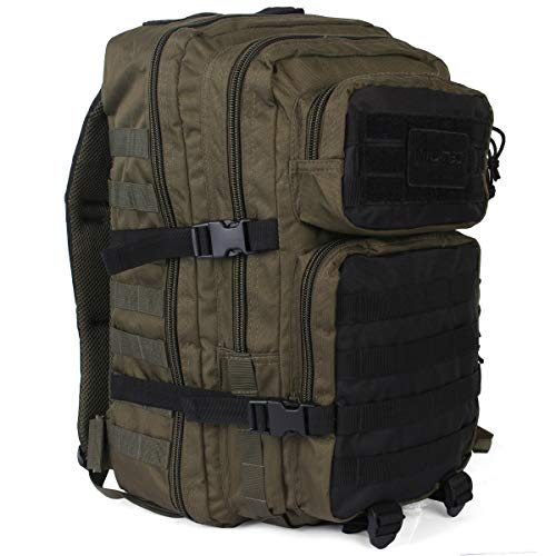 Mil-Tec US Assault Pack Backpack,L,Ranger Green/Schwarz