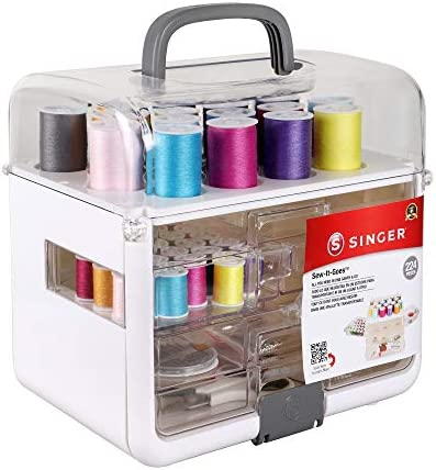 Singer Sew It Goes 224 Piece Sewing Kit Craft Organizer Sewing Case Storage with Machine Sewing product image