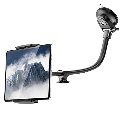 APPS2Car 14' Long Arm Tablet Windshield Holder Anti-Vibration 360 Degree Adjustable for 7.9-11 inch Tablet Car Mount Dashboard ipad Strong Suction Mount for Truck/Van
