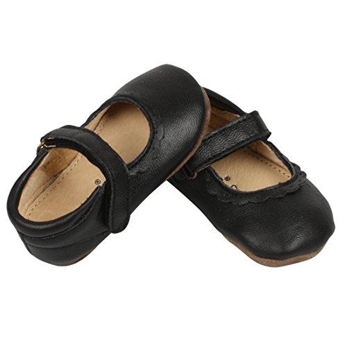 Enfant 810102A-00 Ballerinas, Babyschuhe, Hausschuhe für Mädchen, Schwarz Gr. 23