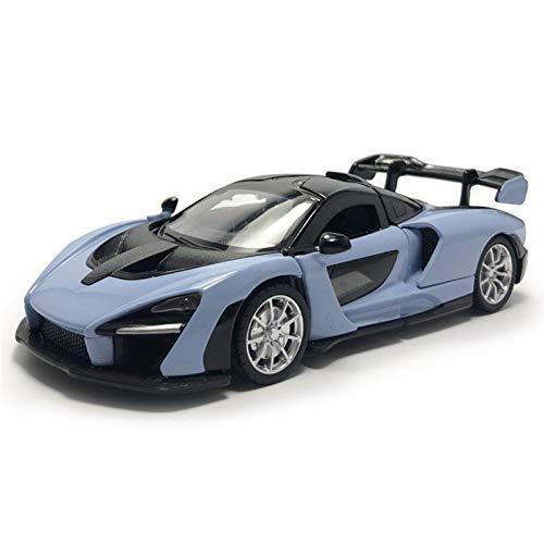 para McLaren Senna 1:32 Escala De Aleación De Metal Diecast Tirar De La Espalda Luces De Sonido Modelo De Auto A-ys Niños Niños Niños To-Ys Cumpleaños Adulto Decoración