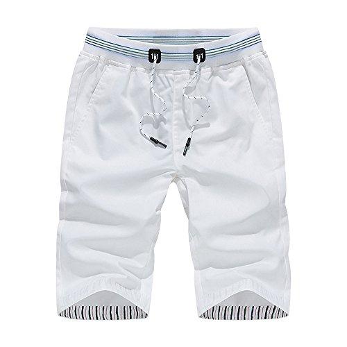 WINJIN Homme Bermuda Chino Pantacourt Coton Shorts Hommes Shorts Pantalon Chino Shorts Uni Short Cargo Bermuda Pantacourt pour Homme Bermudas Cargo Shorts Vintage Slim Pantalon Court avec Poche