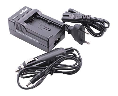 vhbw Ladegerät Ladekabel Netzteil mit Kfz-Lader für Canon Legria HF R66, HF R68, HF R606 wie BP-709.