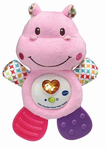 Vtech 502553 Little Friendlies Happy Hippo Teether Pink Vorschul-Spielzeug, Rose, 1.85x1.4x0.6cm