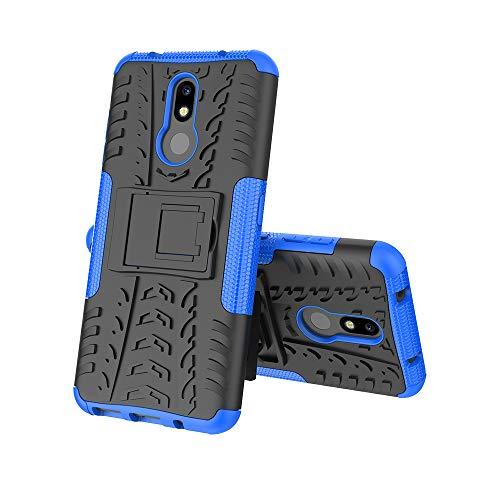 FanTing Cover per Nokia 3.2, [Protezione Robusta] [Armatura Sottile] Hybrid Dual Layer Armor Soft TPU Bumper PC Rigida Protettiva Case -Blu