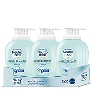 NEUTROMED - Jabón de Manos - 12uds de 300ml (3.600ml) – Con antibacteriano natural y glicerina – Respetuoso con la piel