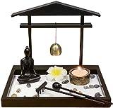 YsKYCA Estatua Escultura Decoración Accesorios De Adorno De Estatuilla Quemador De Incienso Zen Garden Sand Buddha Rock Lotu con Campana De Sujetador Feng Shui Home