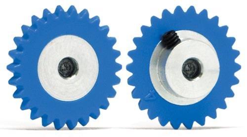 Slot.It GA1526-Pl Couronne 26 dents Ø15mm Plastique pour moteur transversal incliné