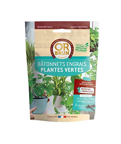 Or brun Engrais Plantes Vertes, Sachet de 25 bâtonnets, Non Applicable