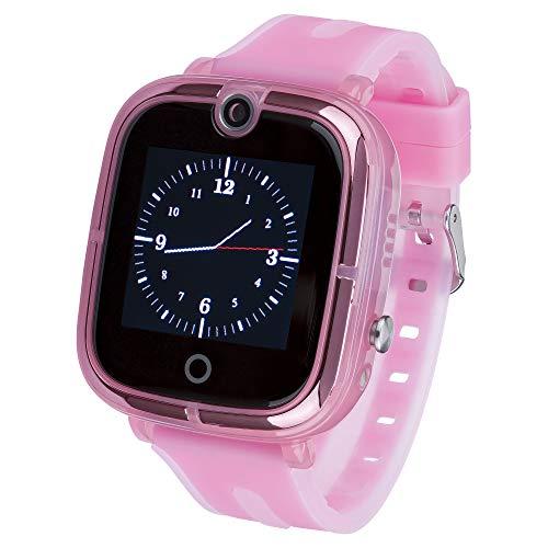 JBC Kinder | Mit Neuer Akku Leistung | GPS Uhr | Smart Watch | SOS Telefon | GPSTracker Ohne Abhörfunktion (Pink)